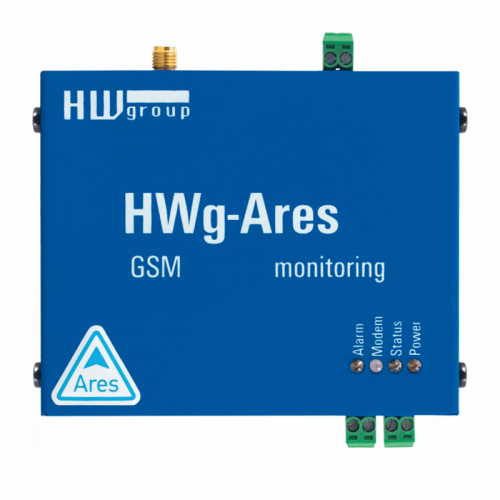 Foto - Sistema di monitoraggio GSM HWg-AresXX - Vista frontale