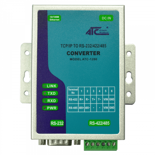 Foto - ATC-1200 Convertitore TCP/IP a RS232/422/485 - Vista frontale
