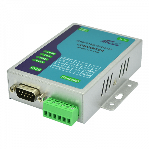 Photo - ATC-1200 TCP/IP to RS232/422/485 Converter - Side Bottom View