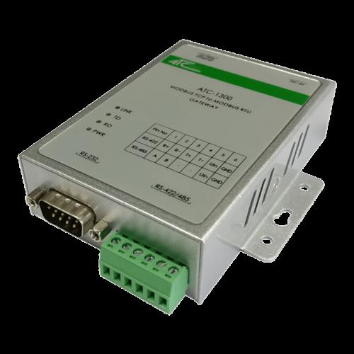 Foto - Modbus TCP to Modbus RTU Gateway - Vista lato inferiore