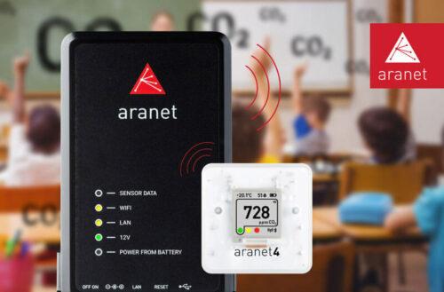 Foto - Applicazione Aranet PRO + Aranet 4 Pro in ambiente scolastico