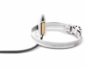 Foto - Sensore di temperatura a contatto su tubo con cavo