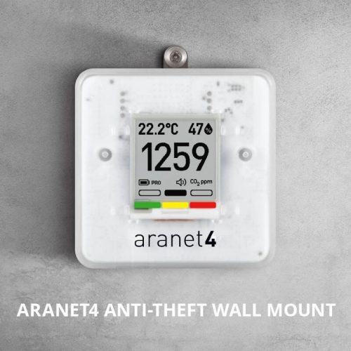 Foto - Sensore ambiente wireless NEW Aranet 4 PRO - Montaggio a muro con antitheft