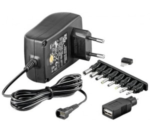 Photo - 110-240Vac 3-12Vdc Power Supply Adapter (1.5A)