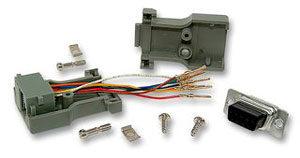 Foto - Adattatore modulare DB9F/RJ45