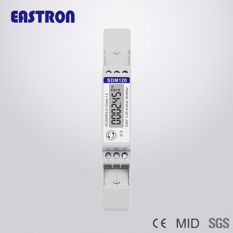 Foto - Contatore di energia SDM120 Certificato MID- Fronte