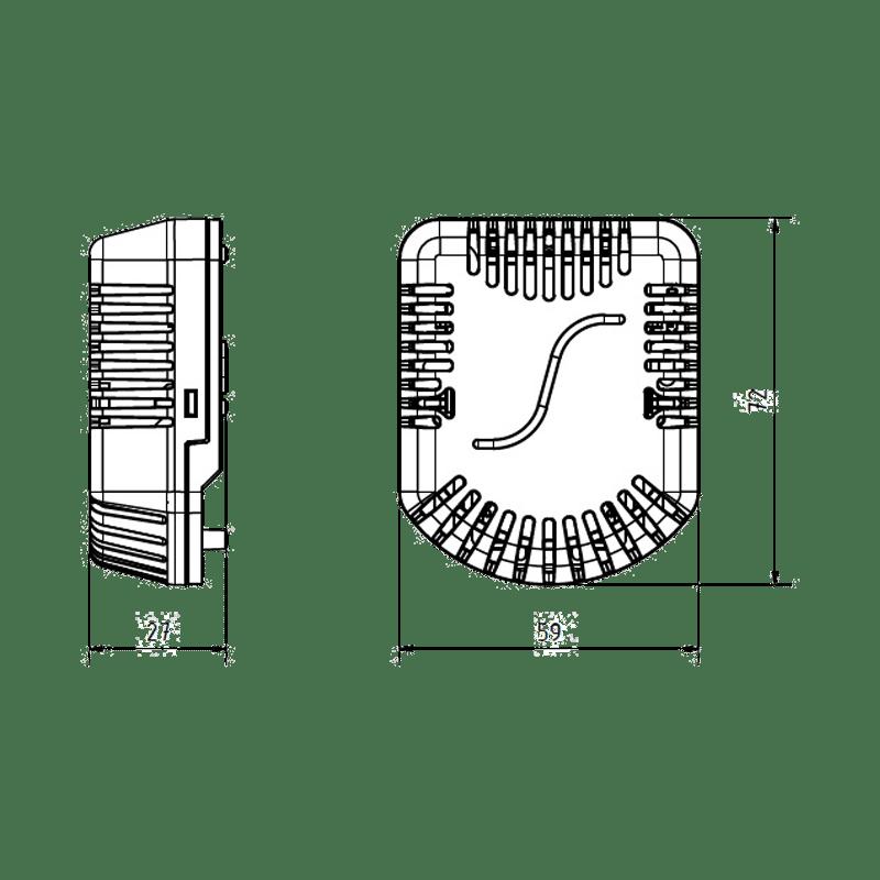 Dimensionale - STHC10x Sensore Temperatura, Umidità e CO2