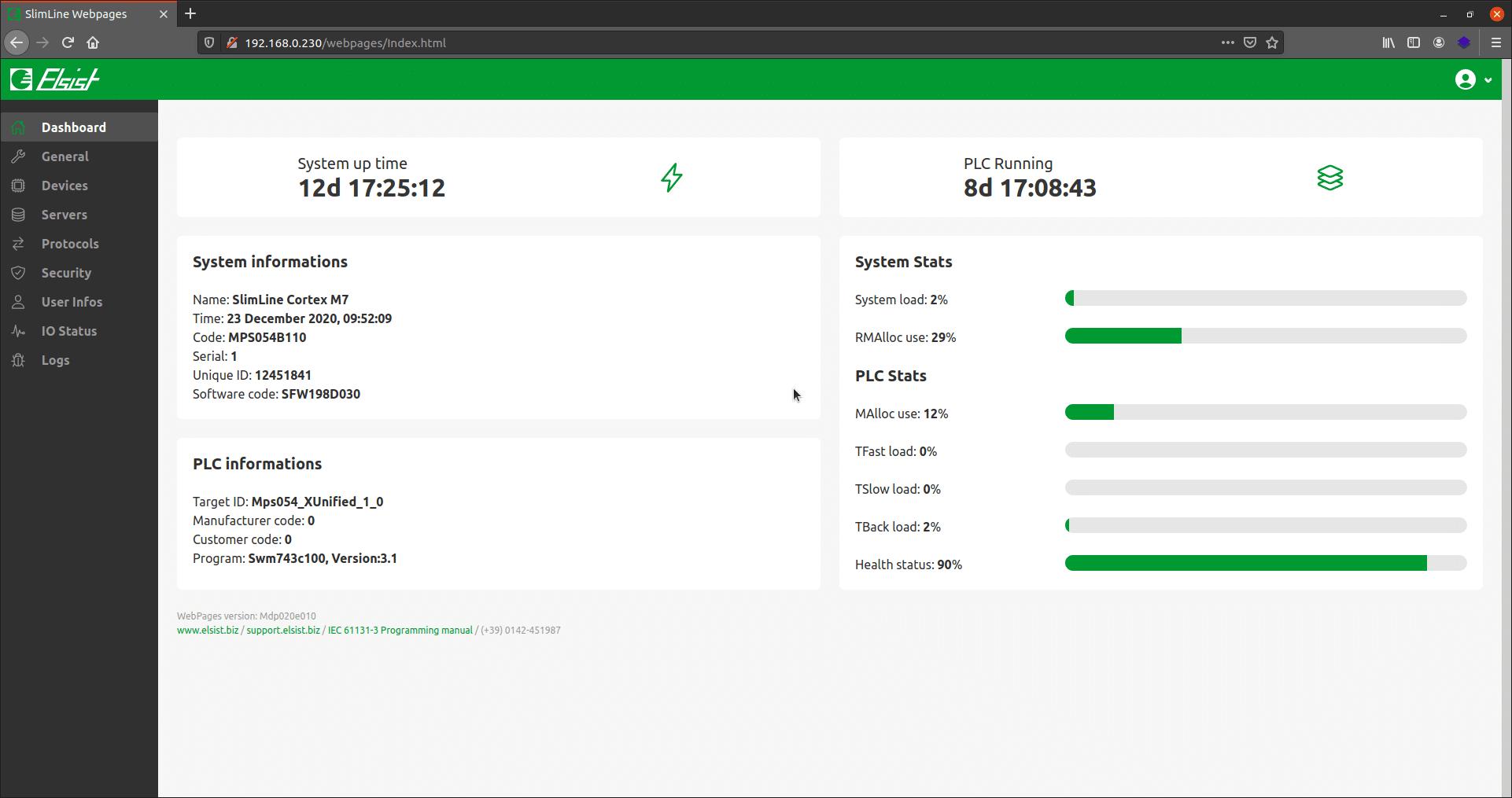 Nuove pagine e nuovo firmware, Velocità e funzioni di debug