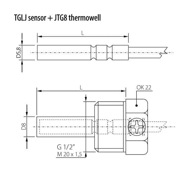 Schema - Abmessungen TG8