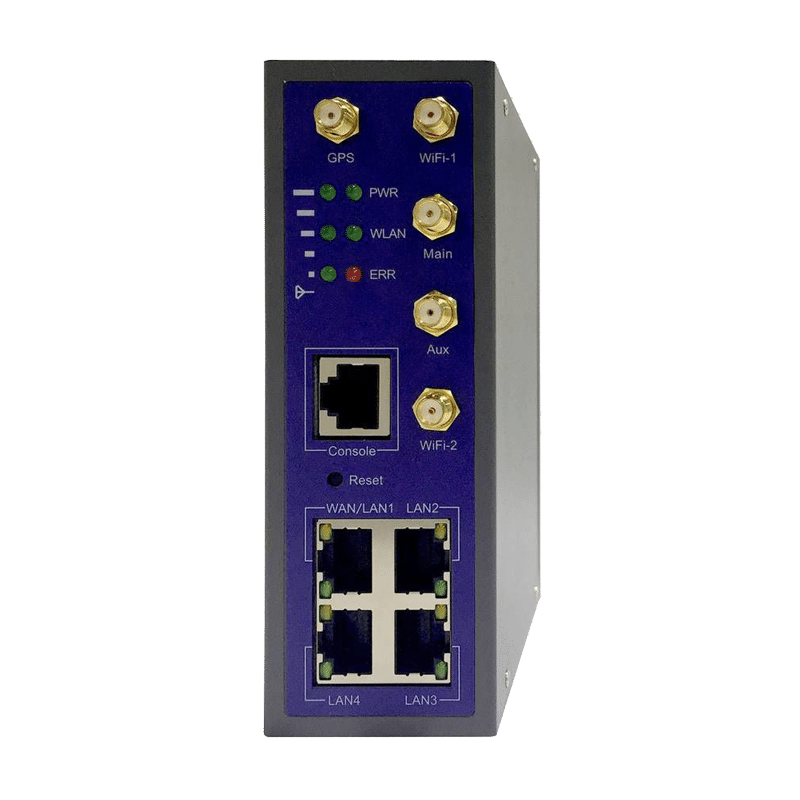 Foto - WL-G510 Router Cellulare 4G/LTE con switch 4 porte Gigabit e I/O - Vista frontale
